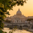 Basilica di San Pietro with bridge in Vatican, Rome, Italy — Stock Photo #47713723