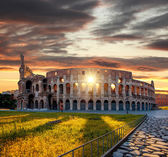 Colosseum during spring time, Rome, Italy — Zdjęcie stockowe