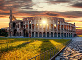 Colosseum during spring time, Rome, Italy — Stock Photo