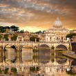 Basilica di San Pietro with bridge in Vatican, Rome, Italy — Stock Photo #49020257