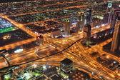 Dubai city  at night with skyscrapers in United Arab Emirates — Zdjęcie stockowe