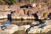 Waterhole and rock pool. Flinders Ranges. South Australia — Stock Photo