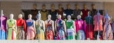 Group of mannequin in summer clothes.  Merkato market. Addis Aba — Foto Stock