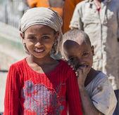 Ethiopian children. Hirna. Ethiopia.  — Stock Photo