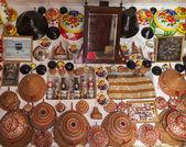 Jugol antik kenti'nın geleneksel evde tipik iç. Harar. Etiyopya. — Stok fotoğraf