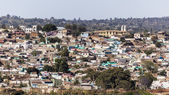 Bird eye view of ancient walled city of Jugol. Harar. Ethiopia. — Stock Photo