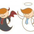 Angel and devil — Imagen vectorial