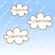 Stock Vector: cloud computing concept