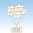 Stock Vector: Cloud computing server