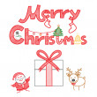 Merry Christmas decoration set — Vector de stock #30454773