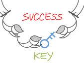 Key success circus — Stock Vector