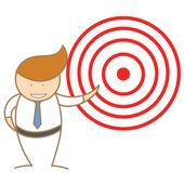 člověk oznámit cíl — Stock vektor