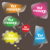 Speech bubble clear sticker set — Vecteur