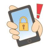 Kresba mobilní locked — Stock vektor