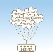 Cloud computing server — Stock Vector