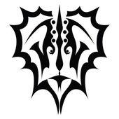 Tattoo afbeelding van gezicht — Stockvector