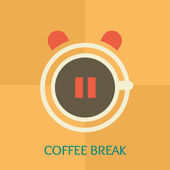 Coffee break time — Stock Vector