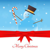 Merry christmas snowman — Stock Vector