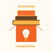 Imagination and knowledge — Stock Vector