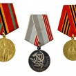 Three military medals — Stock Photo