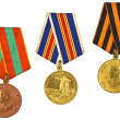 Stock Photo: Three medals for bravery