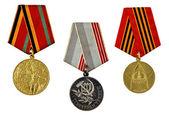 Three military medals — Stok fotoğraf