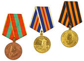Three medals for bravery — Stock Photo