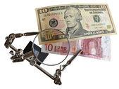 Vs dolar euro — Zdjęcie stockowe