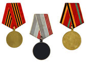Collection of templates of medals — Stock Photo