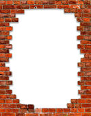 Frame with brick — Stock Photo