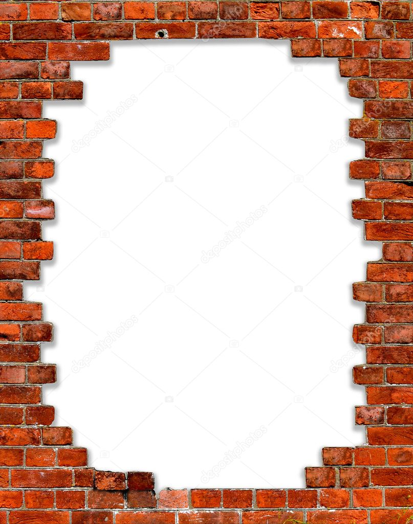 Old brick wall as a frame 01 stock photo image 18377500 - Frame With Brick Stock