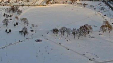 Winter lake — Stock Video