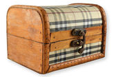 Wooden, closed chest — Stock Photo