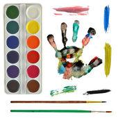Set pittore — Foto Stock