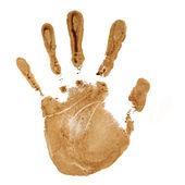 Impresión de la mano — Foto de Stock