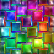 Variegated glass — Stock Photo