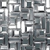 Chrome pattern. Seamless texture. — Stock Photo