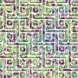 Labyrinth. Seamless background. - Stock Photo