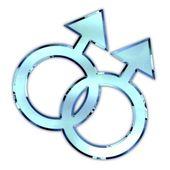 Gay symbol icon — Stock Photo