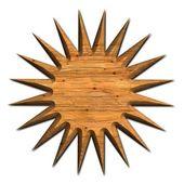 Wood star — Stock Photo