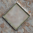 Stock Photo: Grunge metal frame