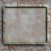 Grunge metalen frame — Stockfoto