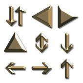 Golden arrows — Stock Photo
