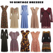 Vintage Dresses - Stock Photo