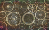 Bicycle wheels — Stock Photo
