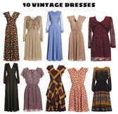 Vintage Dresses — Stock Photo