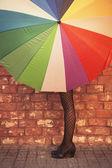 女人和伞 — 图库照片