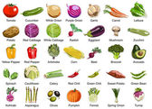 35 warzywa ikony — Zdjęcie stockowe