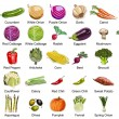 35 Vegetables icons - Stock Vector