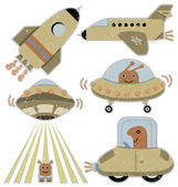 Spaceships and transportation vehicles — Stock Photo